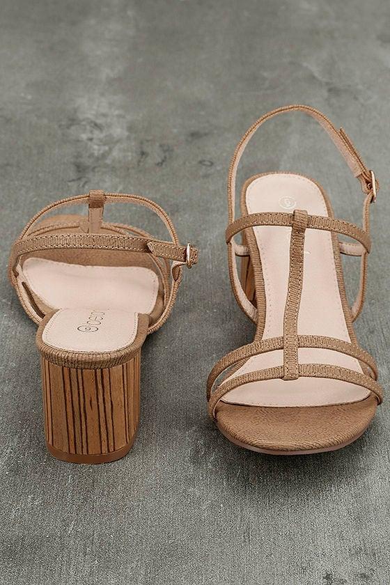 Carlita Beige High Heel Sandals 3