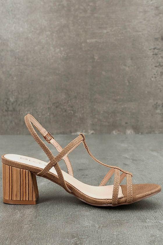 Carlita Beige High Heel Sandals 4