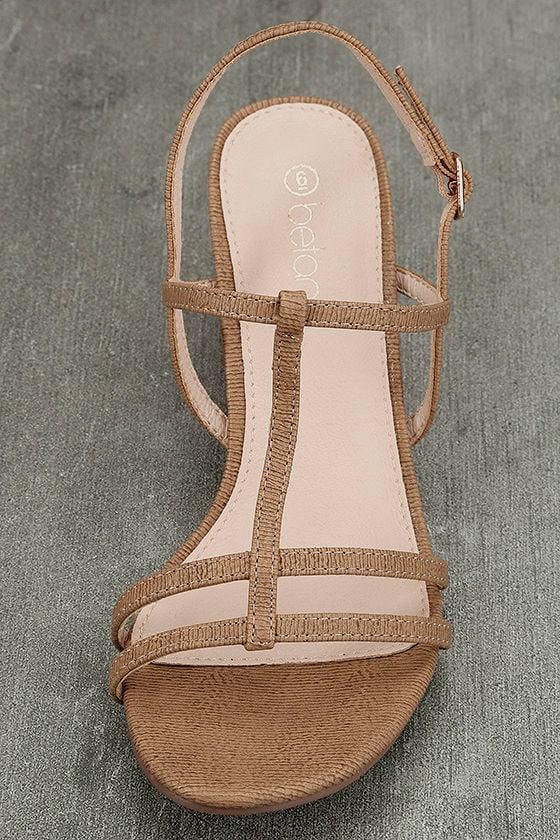 Carlita Beige High Heel Sandals 5