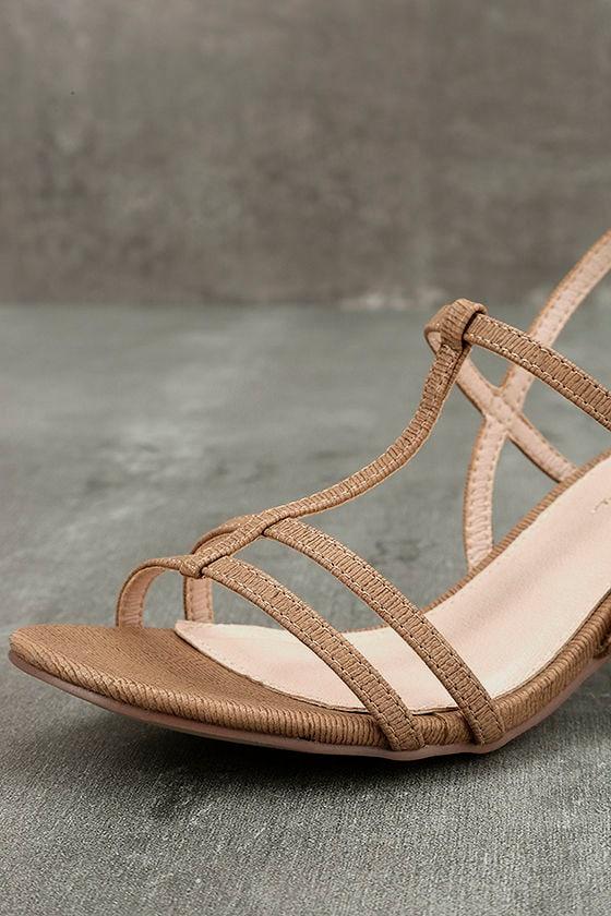 Carlita Beige High Heel Sandals 6