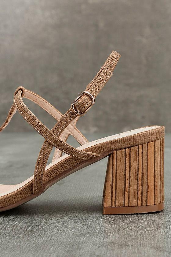 Carlita Beige High Heel Sandals 7