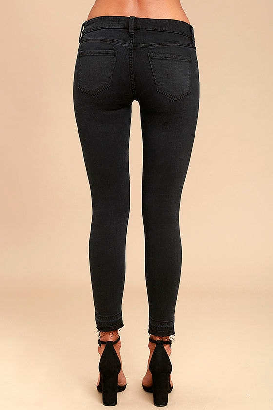 Cool Washed Black Jeans - Skinny Jeans - Ankle Jeans - $49.00
