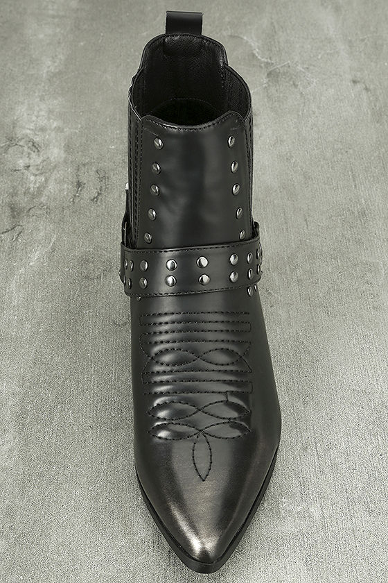 Stevie Black Harness Ankle Boots 4