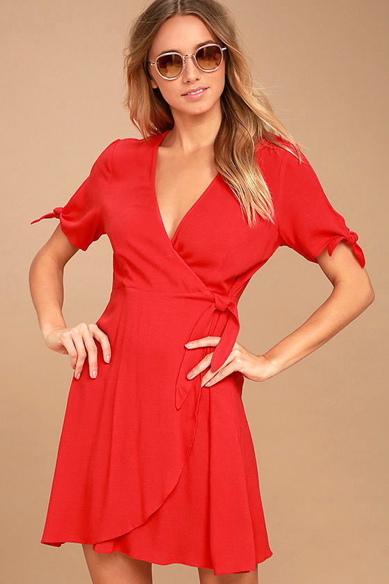 My Philosophy Red Wrap Dress 1