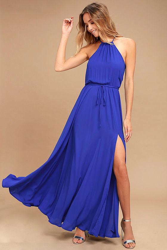 Essence of Style Royal Blue Maxi Dress 1