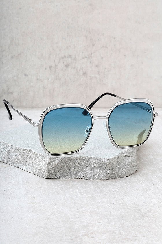 Clementine Silver and Blue Sunglasses 2