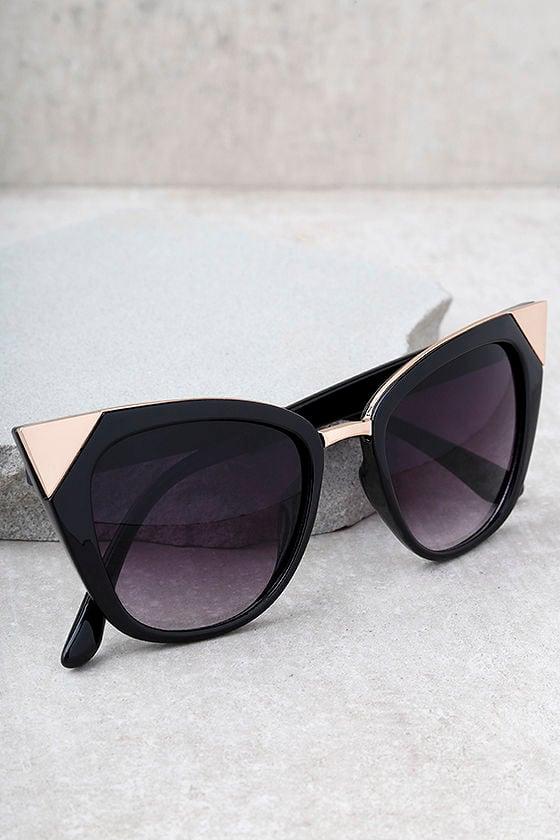 Modern Romance Black Cat-Eye Sunglasses 1