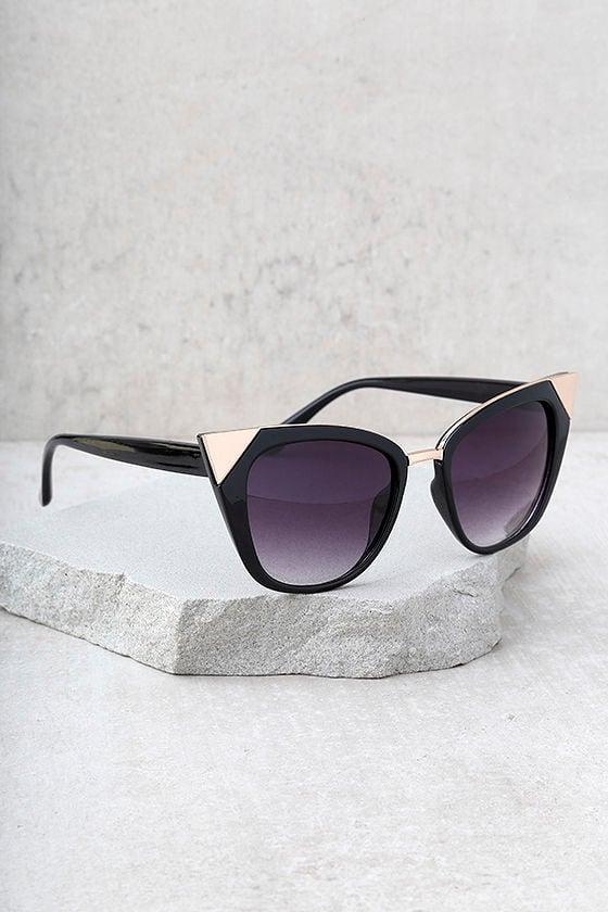 Modern Romance Black Cat-Eye Sunglasses 2