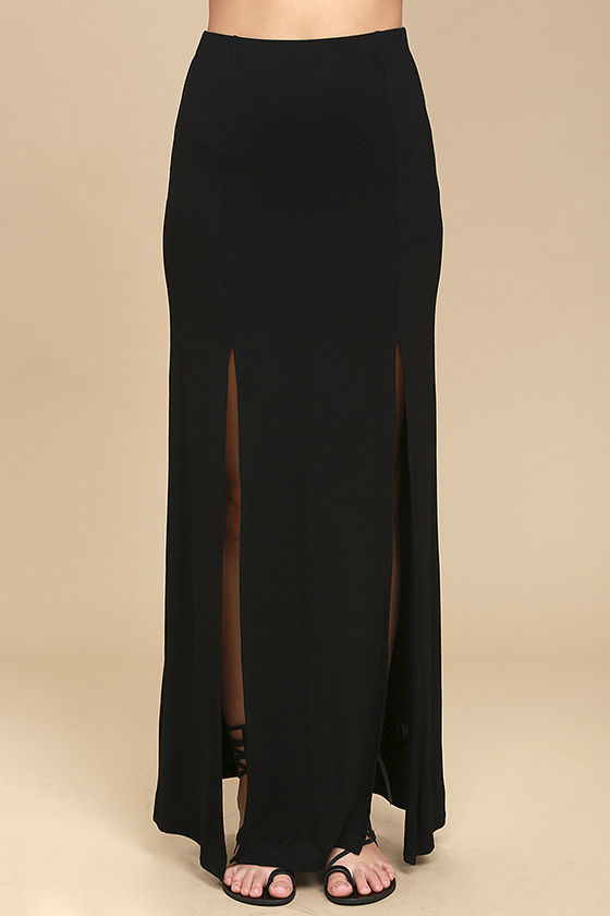 Come on Over Black Maxi Skirt 2
