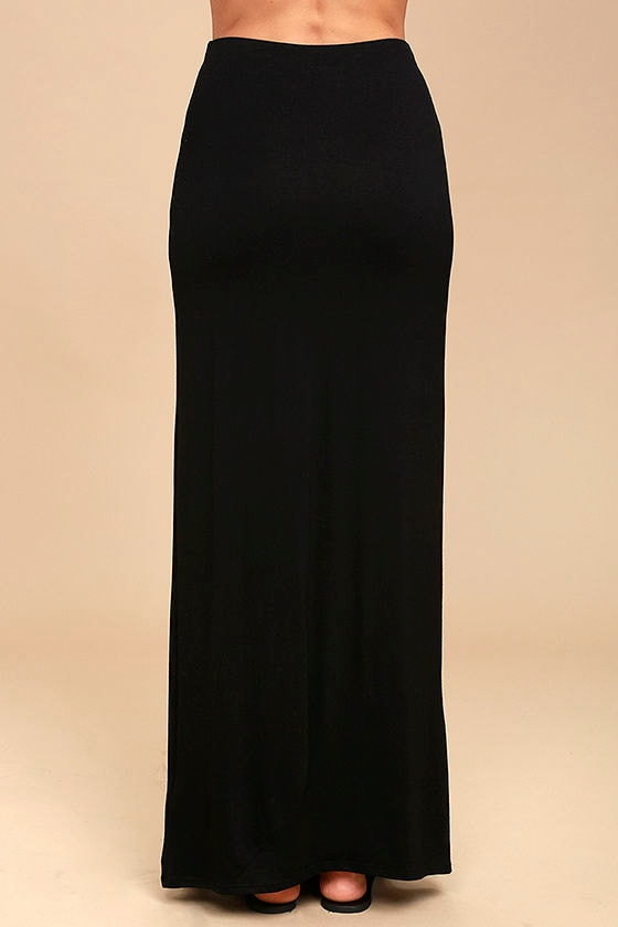 Come on Over Black Maxi Skirt 4