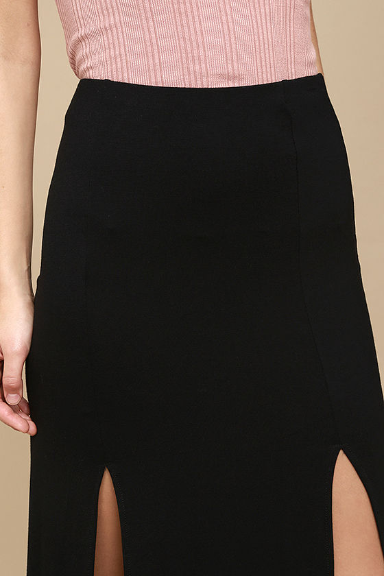Come on Over Black Maxi Skirt 5