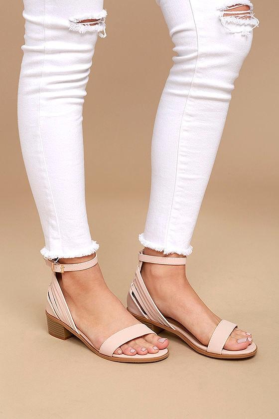 Rochelle Blush Ankle Strap Sandals 2