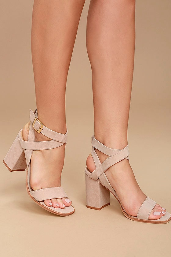 cfd0e16cfbf Chinese Laundry Sitara Rose - Suede Leather Heels - High Heel Sandals -   90.00