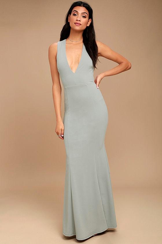 Gray maxi dresses