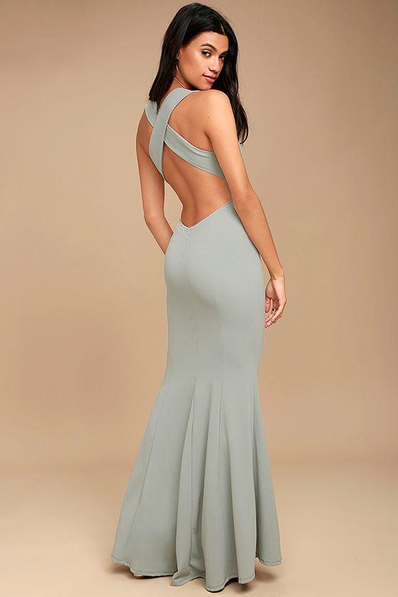 Heaven and Earth Grey Maxi Dress 1