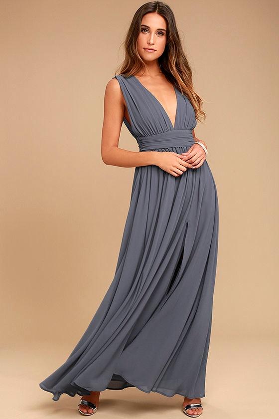 Heavenly Hues Denim Blue Maxi Dress 1