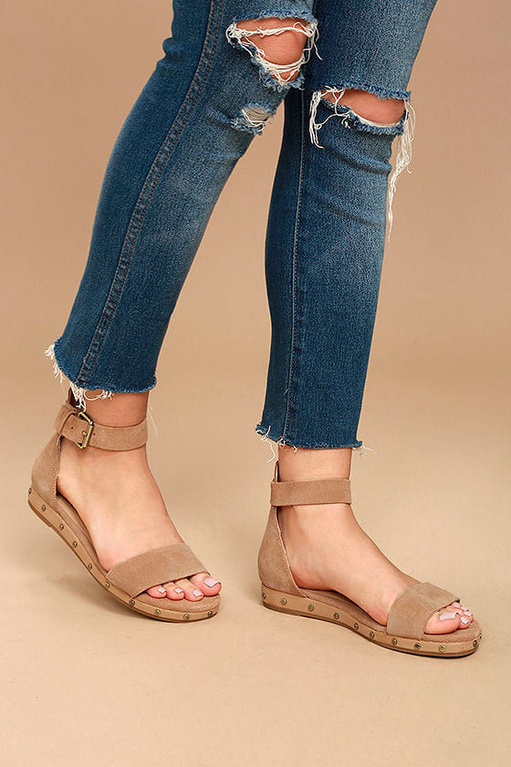 3c964da5360 Chinese Laundry Grady - Camel Leather Sandals - Suede Leather ...