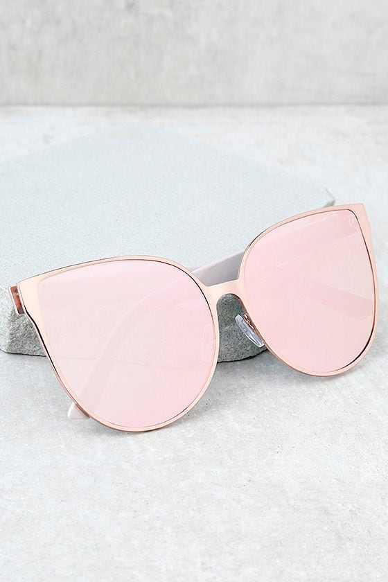 Hollywood Hues Rose Gold and Pink Mirrored Sunglasses 1