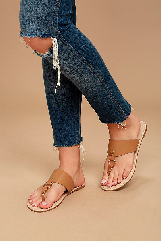Laelia Camel Thong Sandals 2