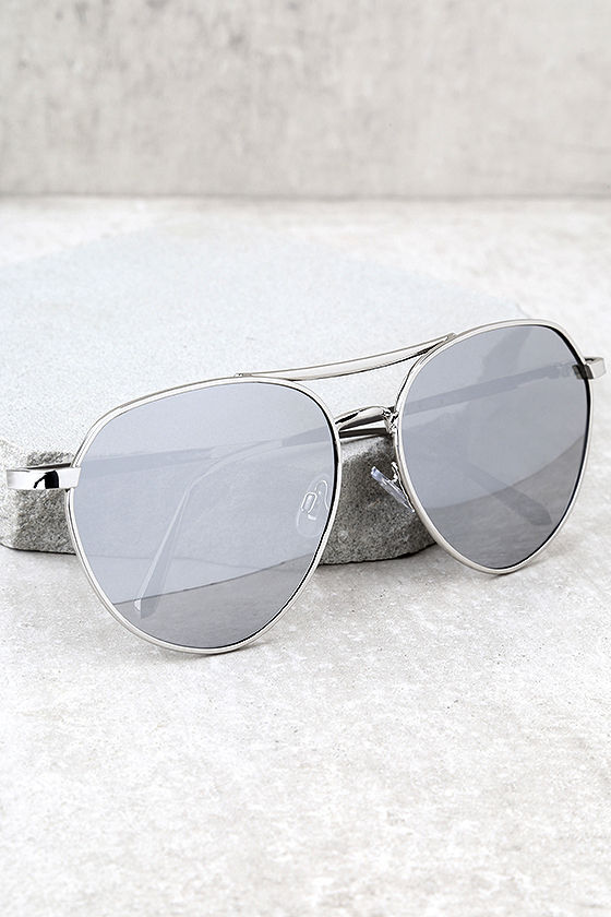 Mirrored Aviator Sunglasses  classic silver aviator sunglasses mirrored sunglasses silver