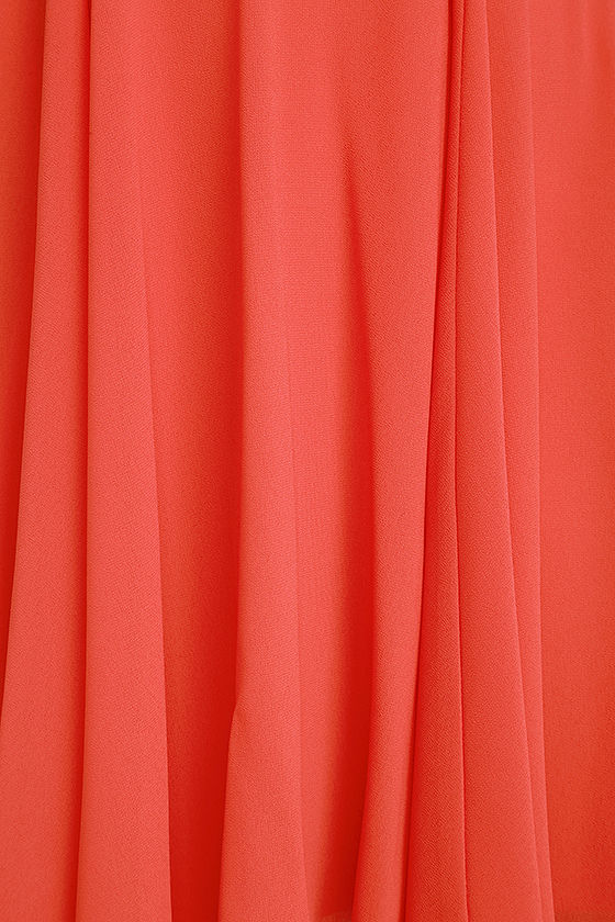 Forevermore Coral Red Skater Dress 4
