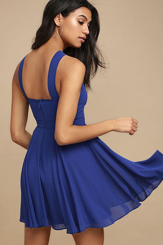 Forevermore Royal Blue Skater Dress 3