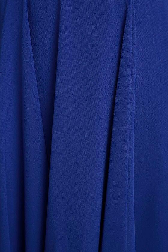 Forevermore Royal Blue Skater Dress 4