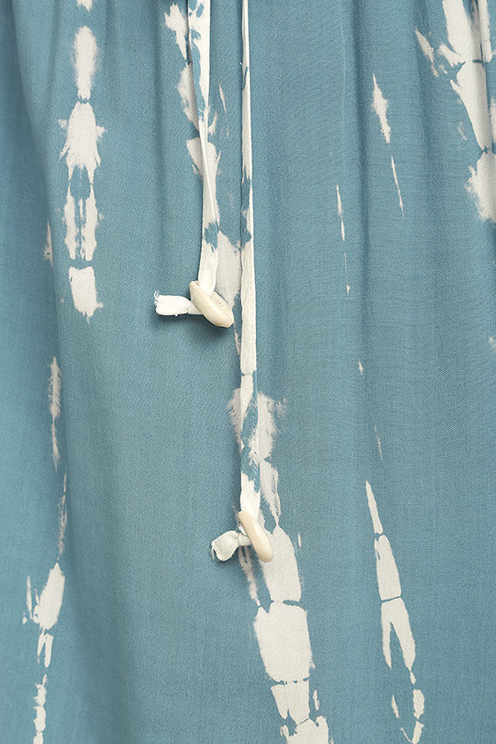 In a Daydream Blue and White Tie-Dye Maxi Dress 4