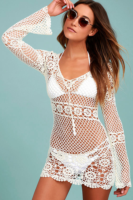 5ec7afbea36a6 Boho Cover-Up - Swim Cover-Up - Crochet Cover-Up - Lace Cover-Up - $49.00