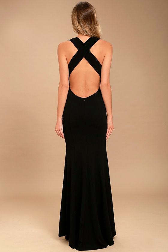 Heaven and Earth Black Maxi Dress 3