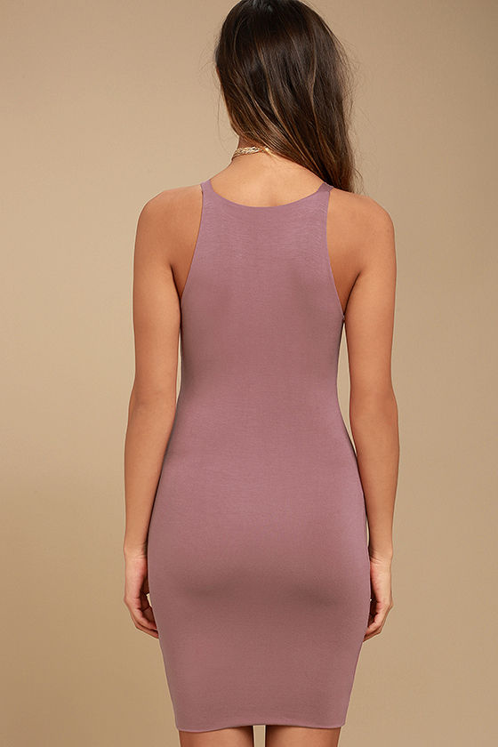 I Bet Mauve Bodycon Dress 3