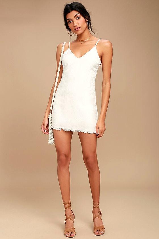 54e2514461b56d Cute White Dress - Sleeveless Dress - Slip Dress - Shift Dress - $45.00