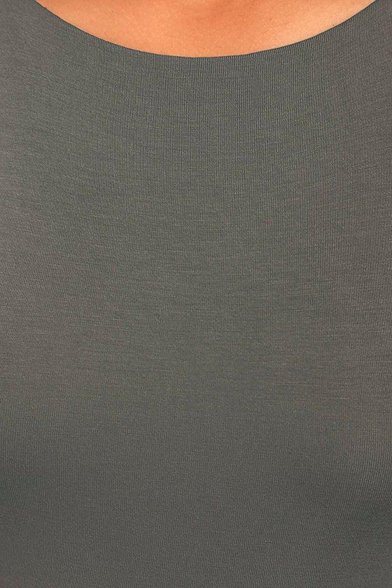 I Bet Charcoal Grey Bodycon Dress 4