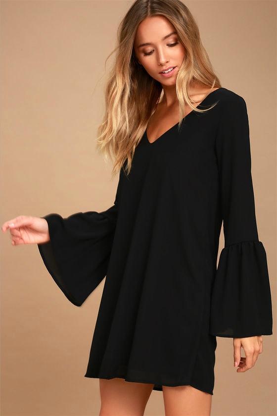 black flowy dress with sleeves – Little Black Dress  568dc763bee5