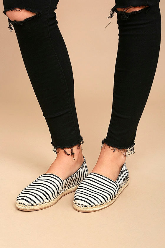 c0d8b9f02 Circus by Sam Edelman Laila - Black and White Flats - Espadrille ...