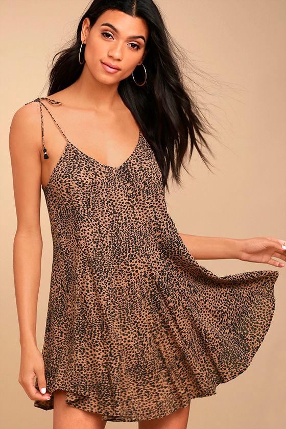 Amuse Society Amya Terra Cotta Print Dress