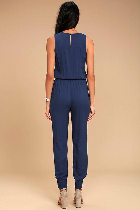 Olive & Oak Scarlett Navy Blue Jumpsuit 3