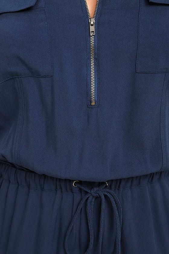 Olive & Oak Scarlett Navy Blue Jumpsuit 4