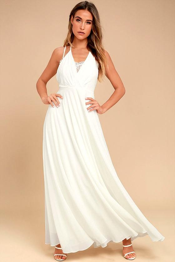 Celebrate the Moment White Lace Maxi Dress 1