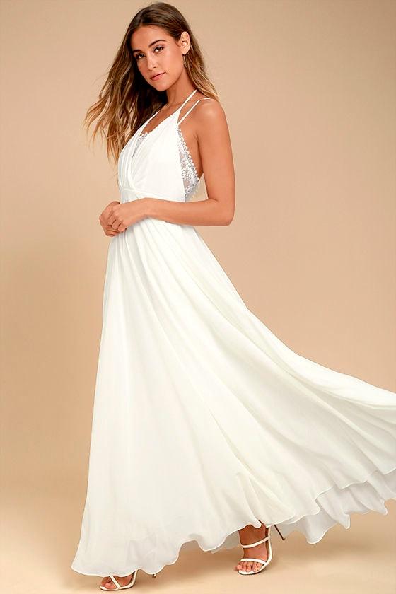 Celebrate the Moment White Lace Maxi Dress 2
