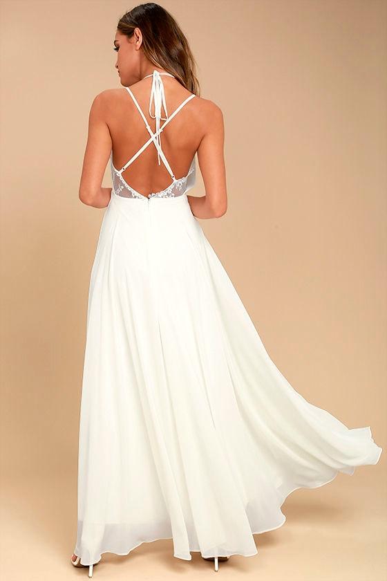 Celebrate the Moment White Lace Maxi Dress 3