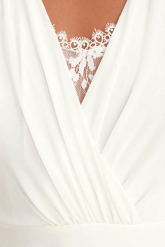 Celebrate the Moment White Lace Maxi Dress 4