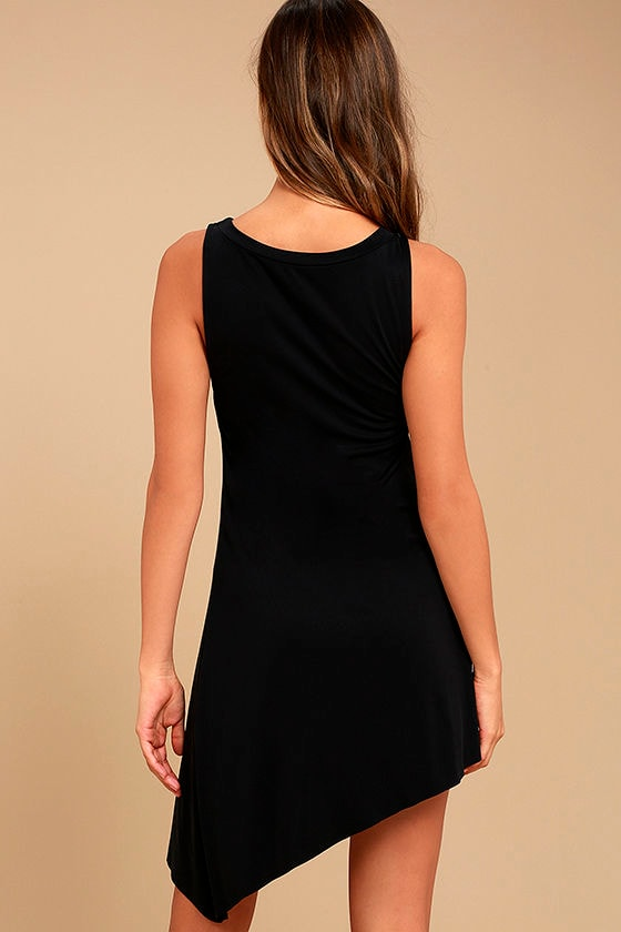 Deep in Thought Black Shift Dress 3
