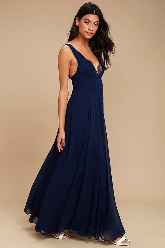 True Bliss Navy Blue Maxi Dress 2