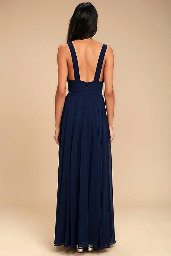 True Bliss Navy Blue Maxi Dress 3