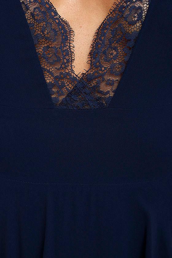 True Bliss Navy Blue Maxi Dress 4