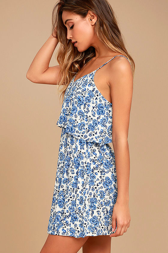 Floral Fave Blue and White Floral Print Dress 2