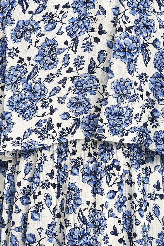 Floral Fave Blue and White Floral Print Dress 4