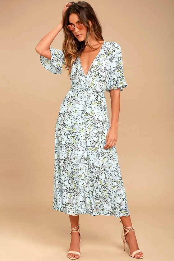 Somedays Lovin Woodland Days Light Blue Floral Print