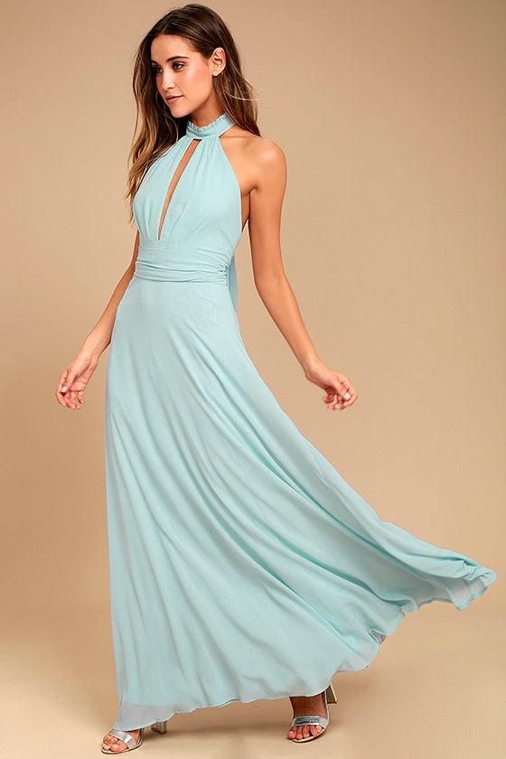 First Comes Love Light Blue Maxi Dress 2